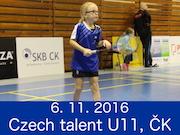 6.11.16 - CZECH TALENT U11 - Český Krumlov