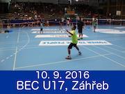 10.9.2016 - MEZINÁRODNÍ TURNAJ BEC U17 A DĚTÍ (ZAGREB, CHORVATSKO)