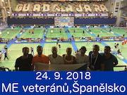 24.9.18 - ME veteránů, Guadalajara - Španělsko