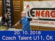 20.10.18 Badminton Czech Talent U11, Český Krumlov