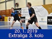 20.1.19 - Extraliga 3. kolo, Brno, Český Krumlov
