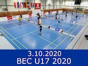 3.10.20 - BEC U17 2020, Český Krumlov